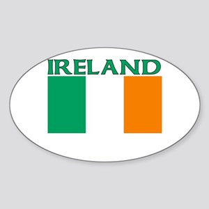 Ireland Flag (Light) Oval Sticker