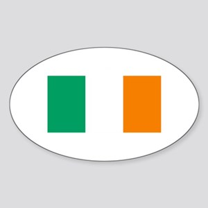 Ireland Flag (Dark) Oval Sticker
