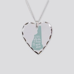 New Hampshire Necklace Heart Charm