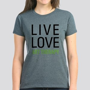 Live Love Art Therapy Women's Dark T-Shirt