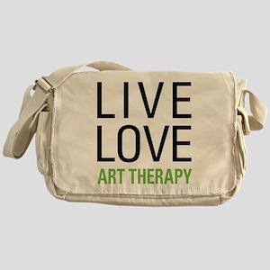 Live Love Art Therapy Messenger Bag