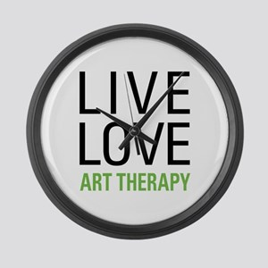 Live Love Art Therapy Large Wall Clock