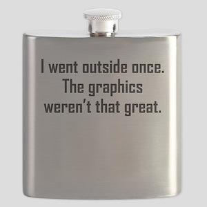 I Went Outside Once Flask