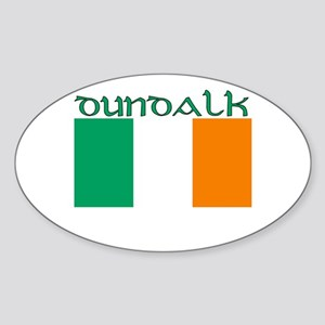 Dundalk, ireland Flag Oval Sticker
