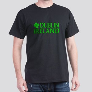 Dublin, Ireland Shamrock Dark T-Shirt