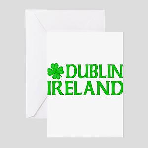 Dublin, Ireland Shamrock Greeting Cards (Package o