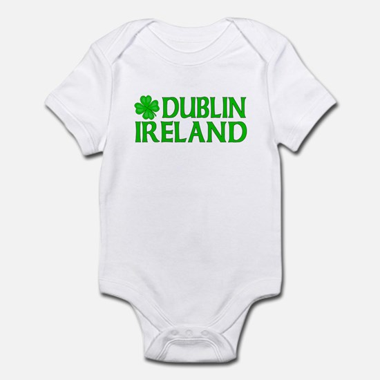 Dublin, Ireland Shamrock Infant Bodysuit