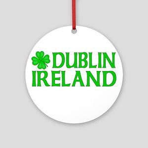 Dublin, Ireland Shamrock Ornament (Round)