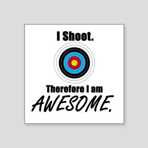 "I Shoot Therefore Im Square Sticker 3"" X 3"""
