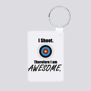 I Shoot Therefore Im Aluminum Photo Keychain