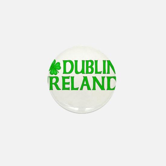Dublin, Ireland Shamrock Mini Button