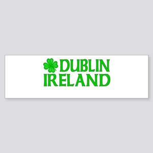 Dublin, Ireland Shamrock Bumper Sticker