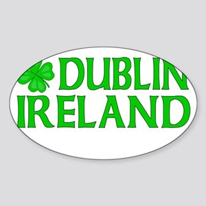Dublin, Ireland Shamrock Oval Sticker