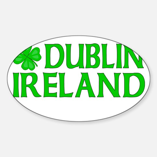 Dublin, Ireland Shamrock Oval Decal