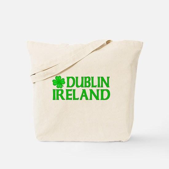 Dublin, Ireland Shamrock Tote Bag