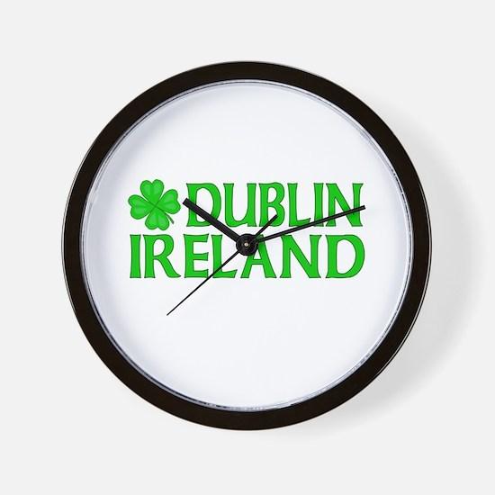 Dublin, Ireland Shamrock Wall Clock