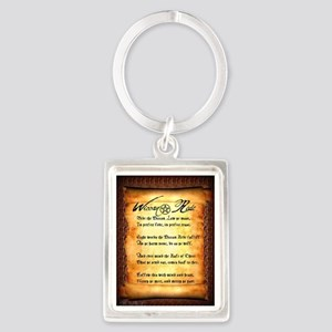 Wiccan Rede #1 Portrait Keychain