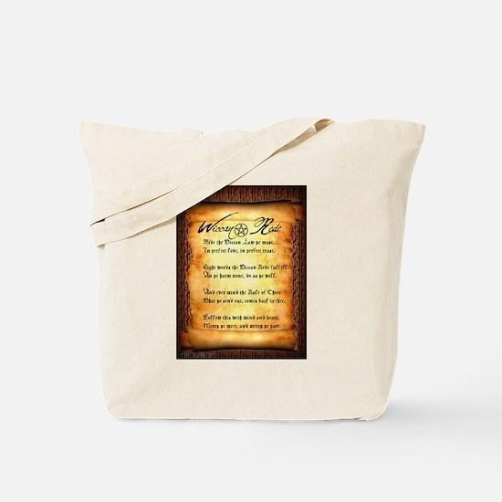 Wiccan Rede #1 Tote Bag