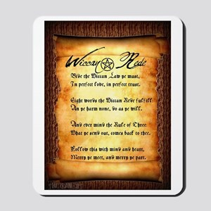 Wiccan Rede #1 Mousepad