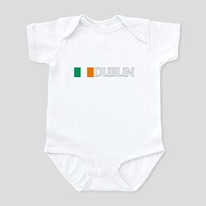 Dublin, Ireland Flag (Dark) Infant Bodysuit