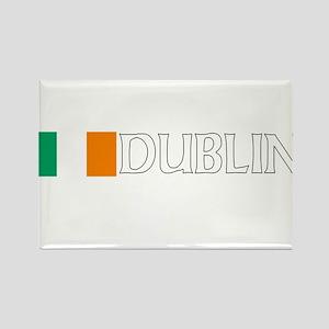 Dublin, Ireland Flag (Dark) Rectangle Magnet