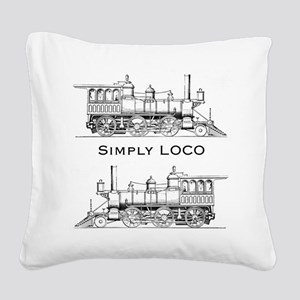 Simply Loco Square Canvas Pillow