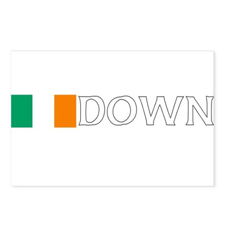 Down, Ireland Flag (Dark) Postcards (Package of 8)