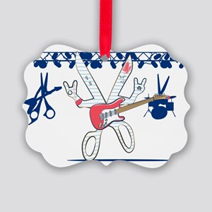 Rock Paper Scissors Picture Ornament