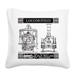 Locomotion Square Canvas Pillow