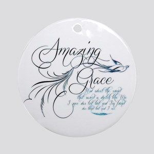 Amazing Grace Ornament (Round)