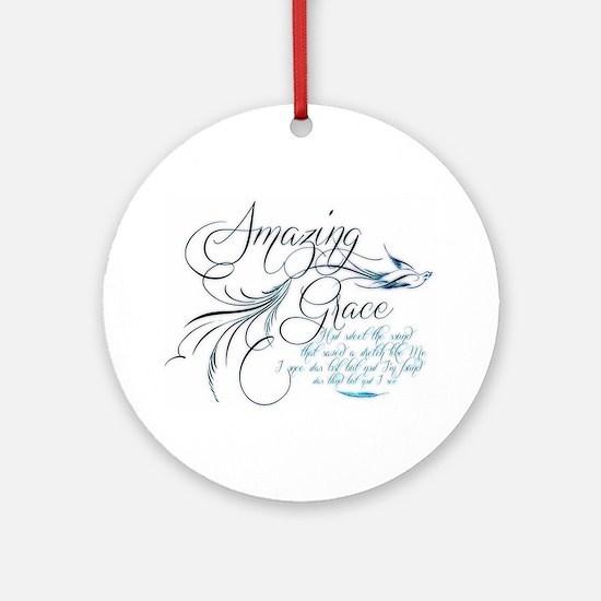 Amazing Grace Ornament (Round)