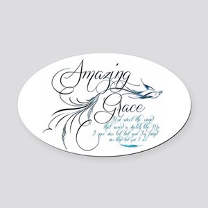 Amazing Grace Oval Car Magnet