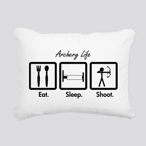 Eat. Sleep. Shoot. Rectangular Canvas Pillow
