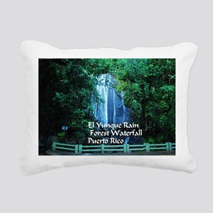 El Yunque waterfall Rectangular Canvas Pillow