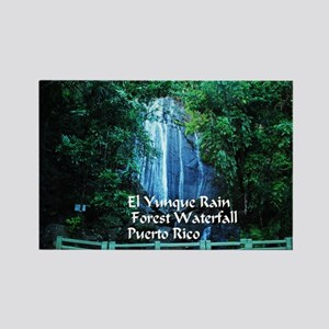 El Yunque waterfall Rectangle Magnet