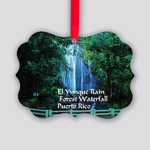 El Yunque waterfall Picture Ornament