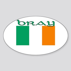 Bray, Ireland Flag Oval Sticker