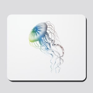 colorful jellyfish Mousepad