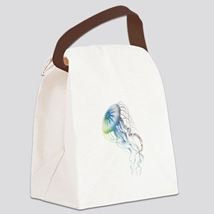 colorful jellyfish Canvas Lunch Bag