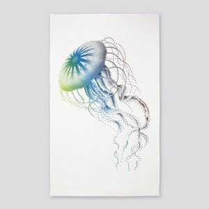 colorful jellyfish 3'x5' Area Rug
