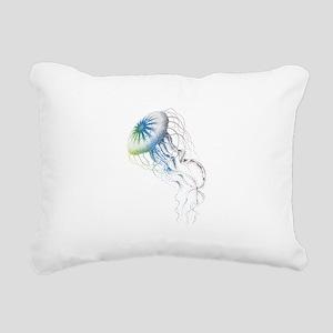 colorful jellyfish Rectangular Canvas Pillow