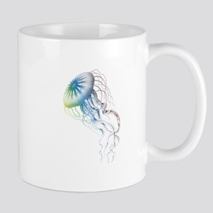 colorful jellyfish Mugs