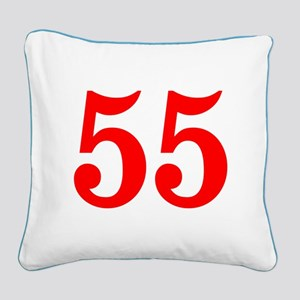 RED #55 Square Canvas Pillow