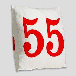 RED #55 Burlap Throw Pillow