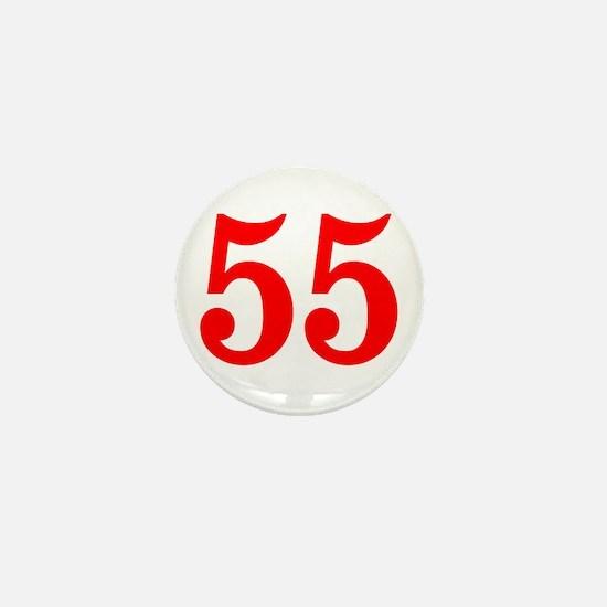 RED #55 Mini Button