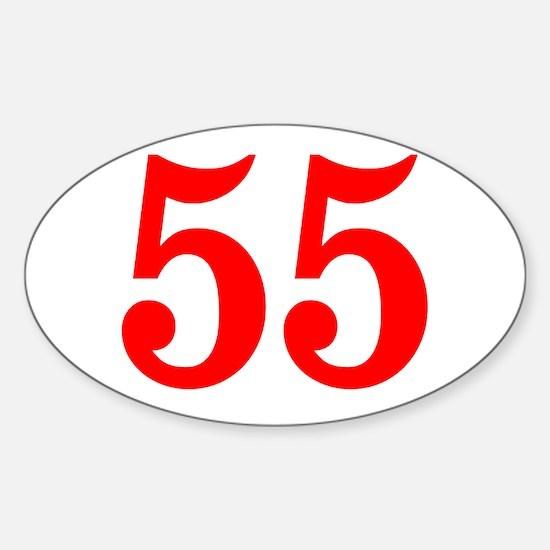 RED #55 Sticker (Oval)