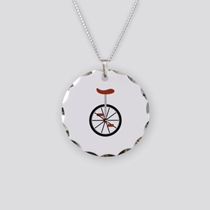 Red Unicycle Necklace