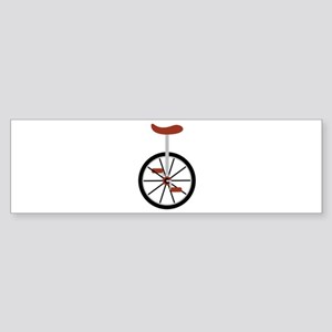 Red Unicycle Bumper Sticker