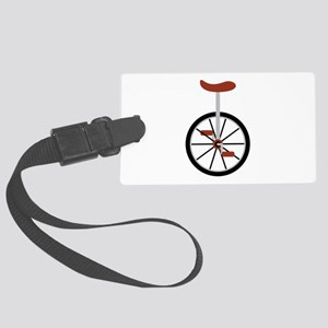 Red Unicycle Luggage Tag