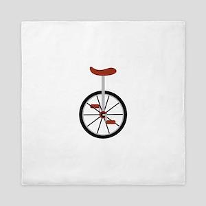 Red Unicycle Queen Duvet